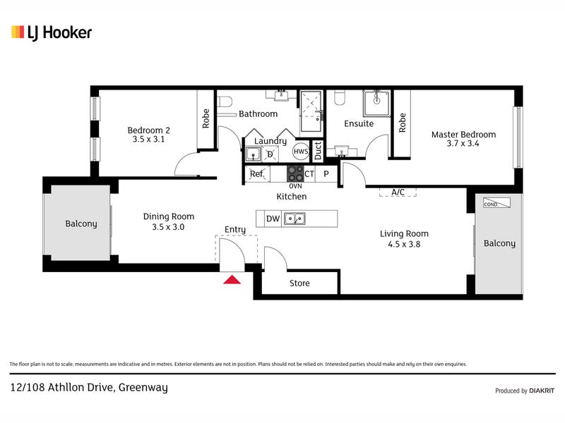 12/108 Athllon Drive, Greenway, ACT 2900 - floorplan