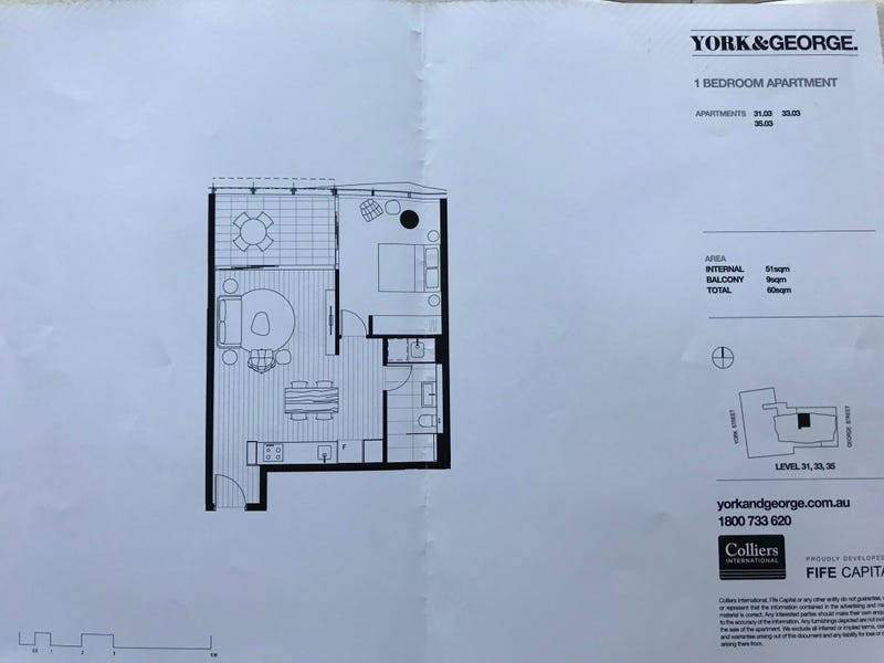 3303/38 York st, Sydney, NSW 2000 - floorplan