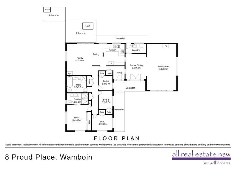 8 Proud Place, Wamboin, NSW 2620 - floorplan