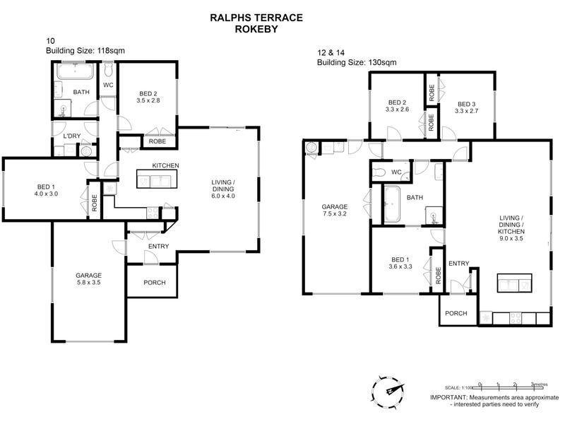 10, 12 & 14 Ralph Terrace, Rokeby, Tas 7019 - floorplan