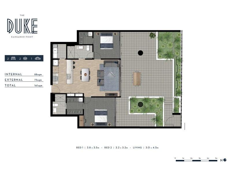 31/18 Duke Street, Kangaroo Point, Qld 4169 - floorplan