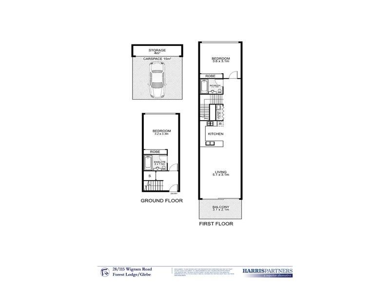 28/115 Wigram Road, Forest Lodge, NSW 2037 - floorplan