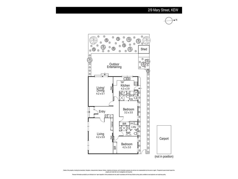 2/9 Mary Street, Kew, Vic 3101 - floorplan