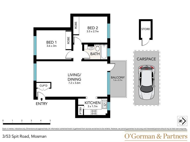 3/53 Spit Road, Mosman, NSW 2088 - floorplan