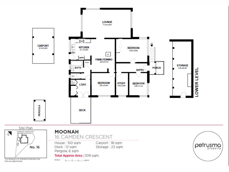 16 Camden Crescent, Moonah, Tas 7009 - floorplan