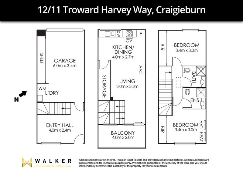 12/11 Troward Harvey Way, Craigieburn, Vic 3064 - floorplan
