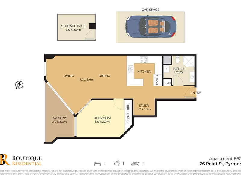 603e/26 Point Street, Pyrmont, NSW 2009 - floorplan