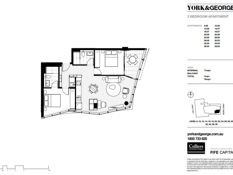 3805/38 York Street, Sydney, NSW 2000 - floorplan
