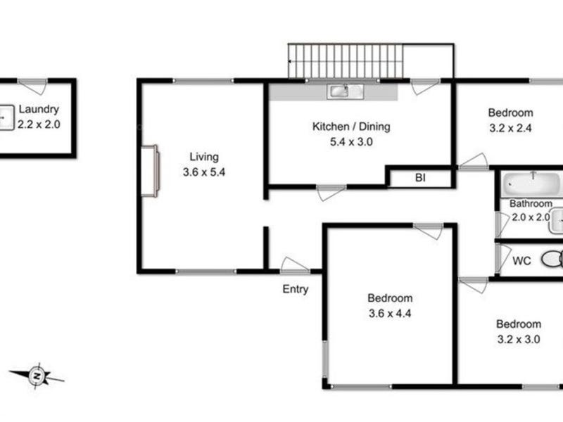 165 Flagstaff Gully Road, Lindisfarne, Tas 7015 - floorplan