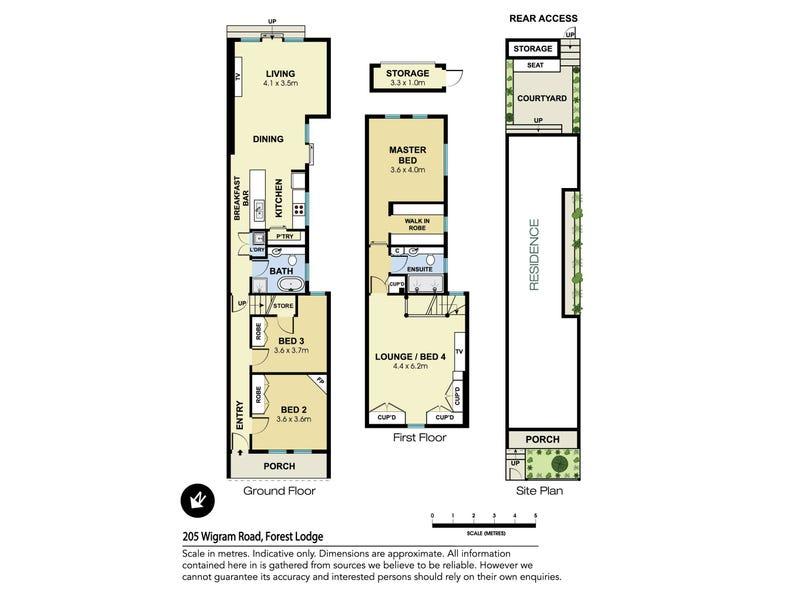 205 Wigram Road, Forest Lodge, NSW 2037 - floorplan