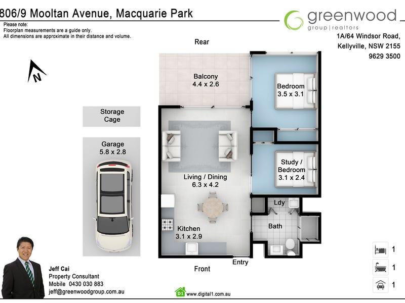 806/9 Mooltan Avenue, Macquarie Park, NSW 2113 - floorplan