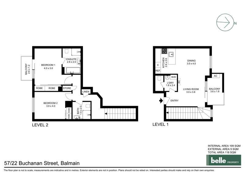 57/22 Buchanan Street, Balmain, NSW 2041 - floorplan