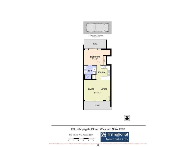 2/3 Bishopsgate Street, Wickham, NSW 2293 - floorplan