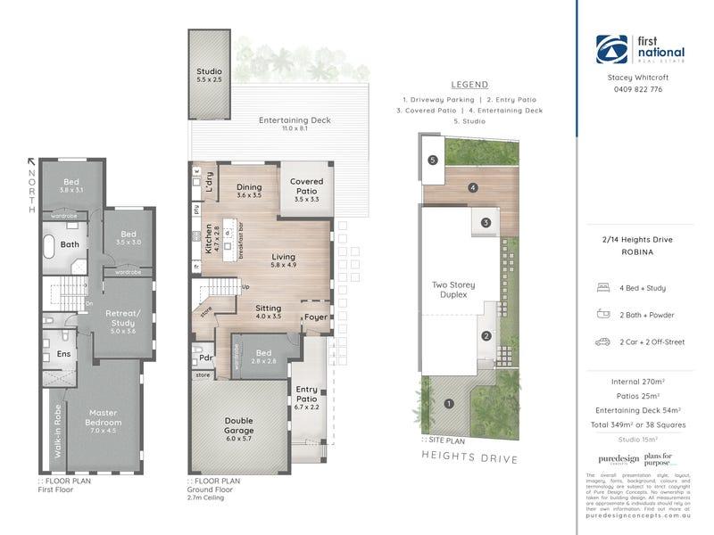2/14 Heights Drive, Robina, Qld 4226 - floorplan