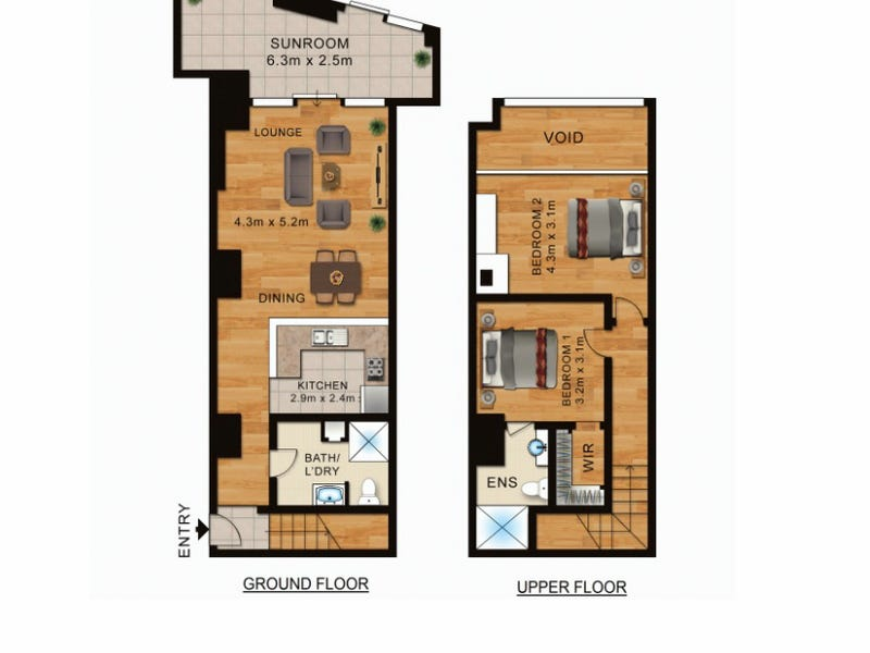 11/1 Wiley Street, Chippendale, NSW 2008 - floorplan