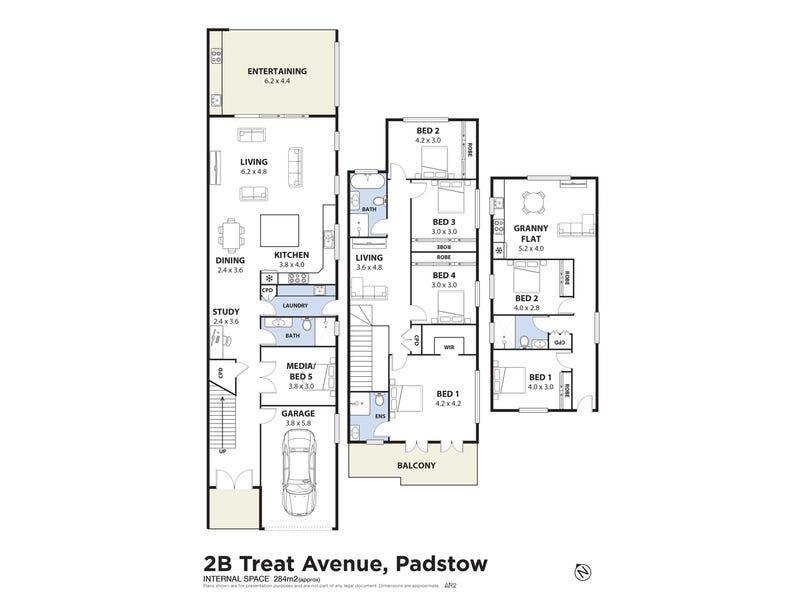 2B Treatt Avenue, Padstow, NSW 2211 - floorplan