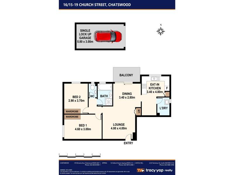 16/15-19 Church Street, Chatswood, NSW 2067 - floorplan