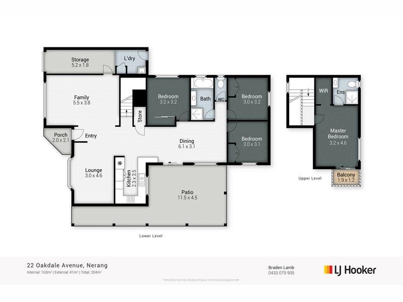 22 Oakdale Avenue, Nerang, Qld 4211 - floorplan