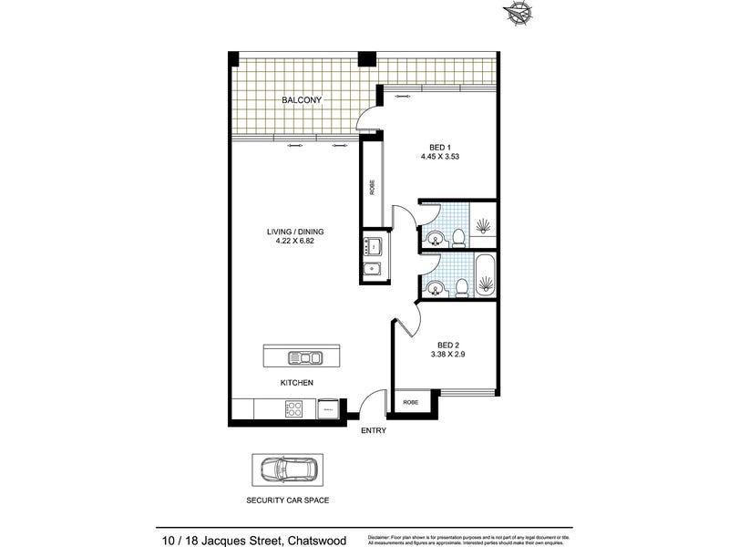 XX/18 Jacques Street, Chatswood, NSW 2067 - floorplan