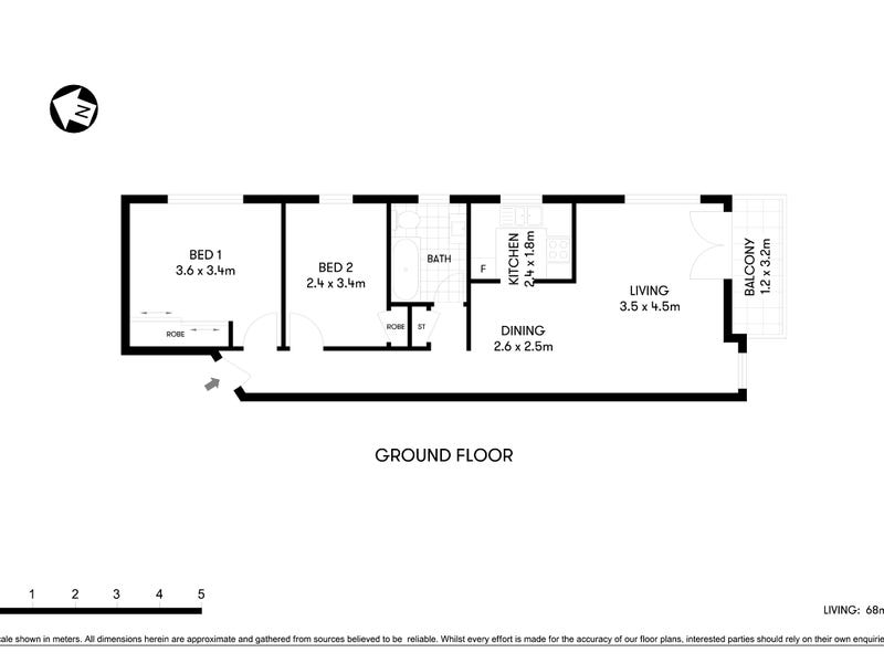1/307 Victoria Avenue, Chatswood, NSW 2067 - floorplan