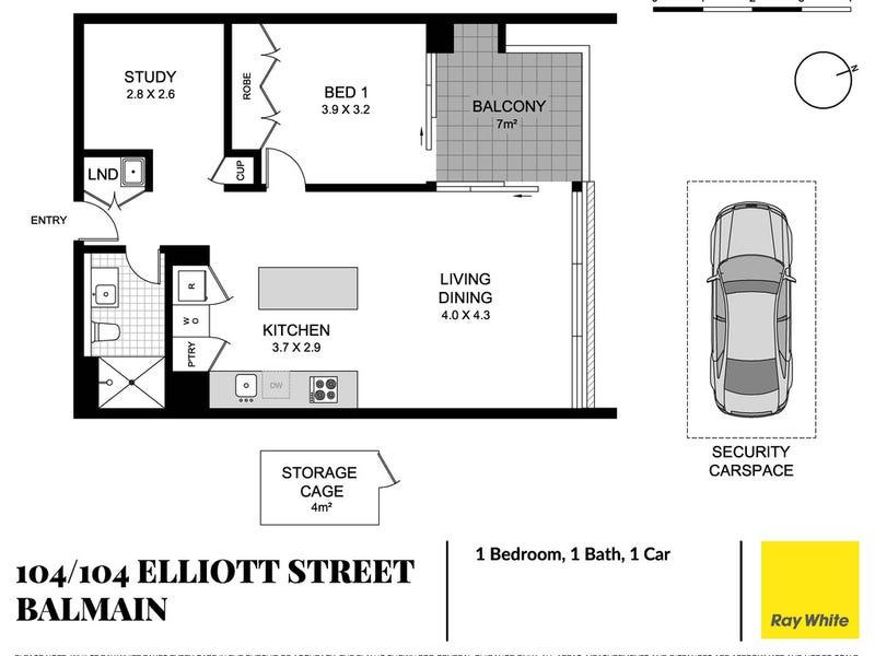104/104 Elliott Street, Balmain, NSW 2041 - floorplan