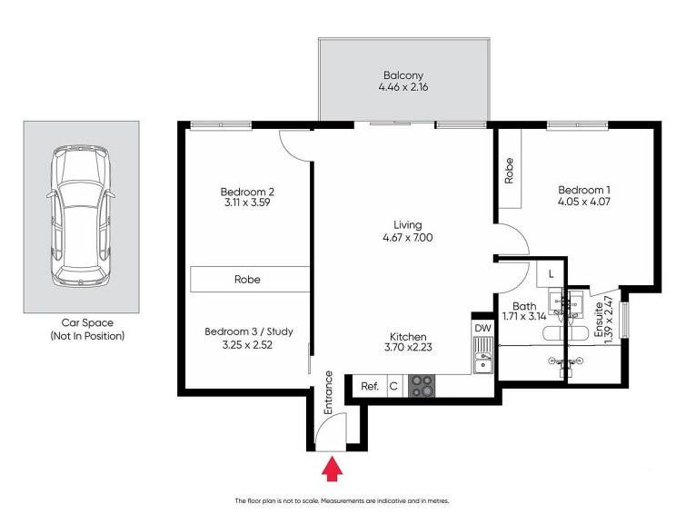 407/7 Greeves St, St Kilda, Vic 3182 - floorplan