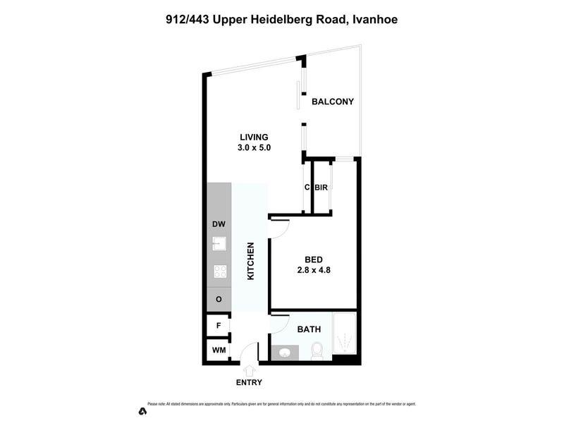 912/443 Upper Heidelberg Road, Ivanhoe, Vic 3079 - floorplan