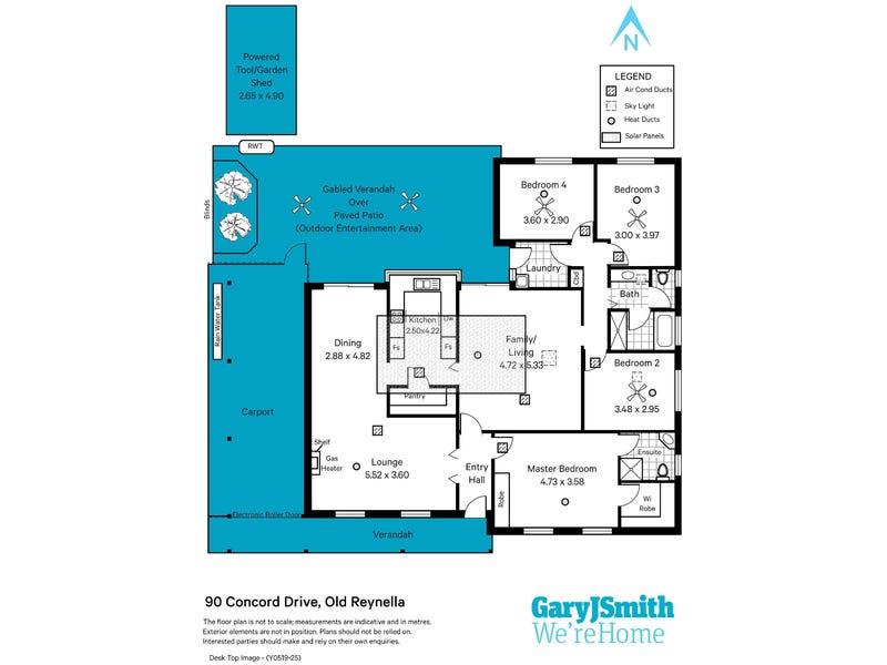 90 Concord Drive, Old Reynella, SA 5161 - floorplan
