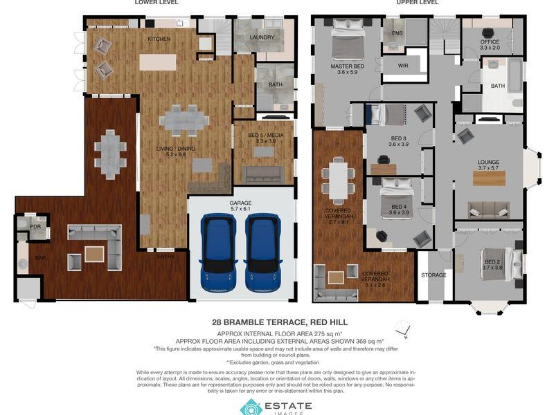 28 Bramble Terrace, Red Hill, Qld 4059 - floorplan