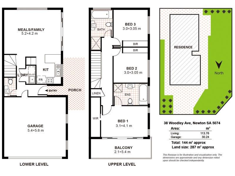 38 Woodley Avenue, Newton, SA 5074 - floorplan
