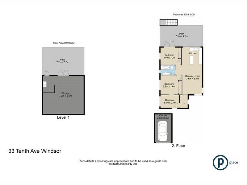 33 Tenth Avenue, Windsor, Qld 4030 - floorplan