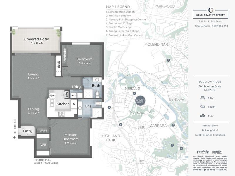71/1 Boulton Drive, Nerang, Qld 4211 - floorplan