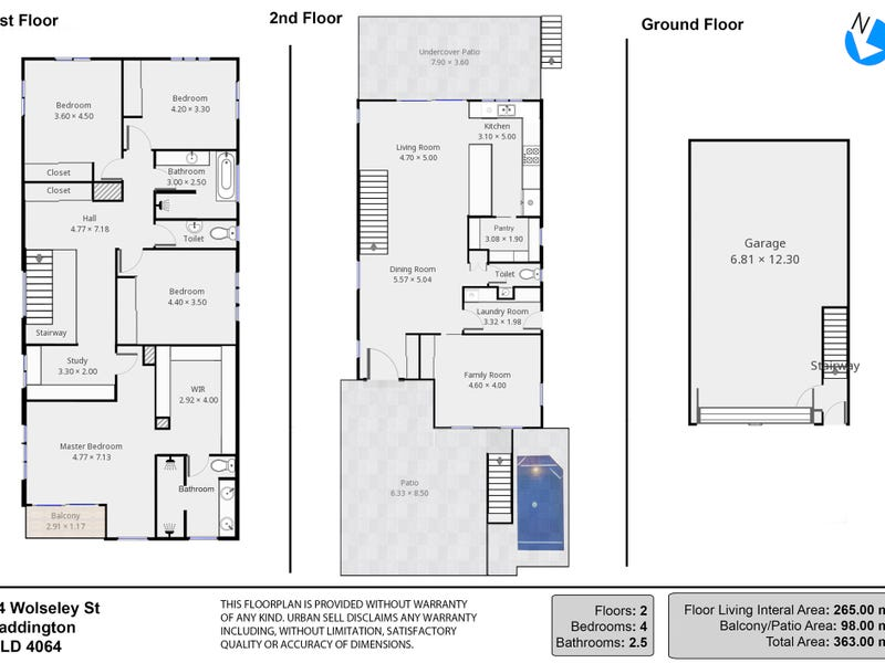 24 Wolseley Street, Paddington, Qld 4064 - floorplan