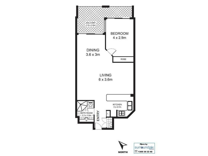 B605/24 Point St, Pyrmont, NSW 2009 - floorplan