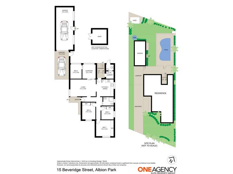 15 Beveridge Street, Albion Park, NSW 2527 - floorplan