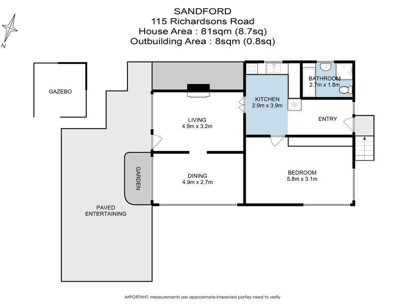 115 Richardsons Road, Sandford, Tas 7020 - floorplan