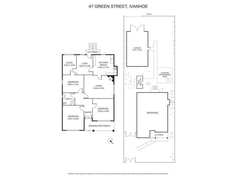 47 Green Street, Ivanhoe, Vic 3079 - floorplan