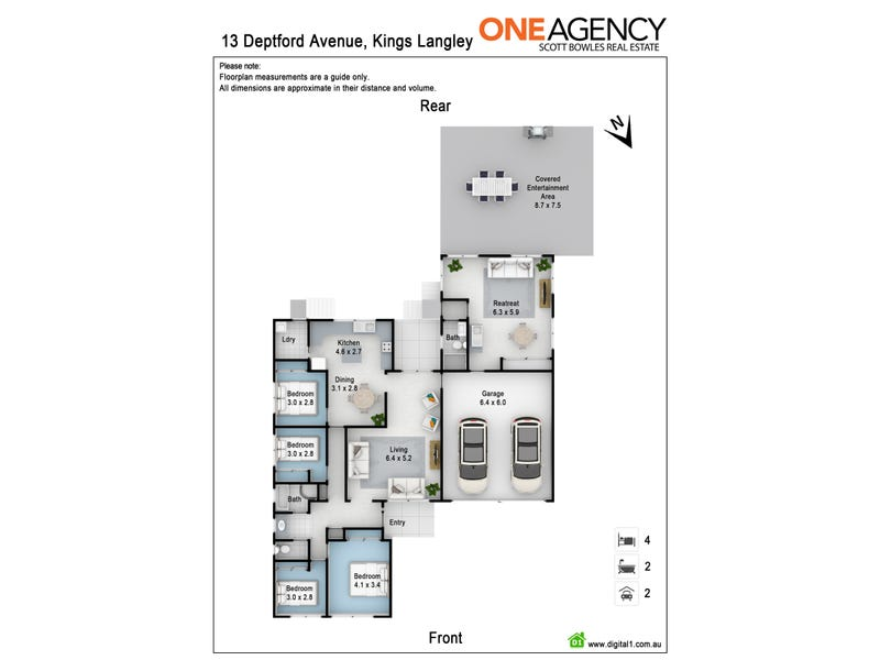 13 Deptford Avenue, Kings Langley, NSW 2147 - floorplan