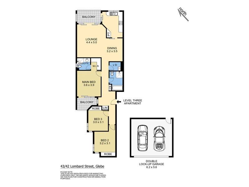43/42 Lombard Street, Glebe, NSW 2037 - floorplan