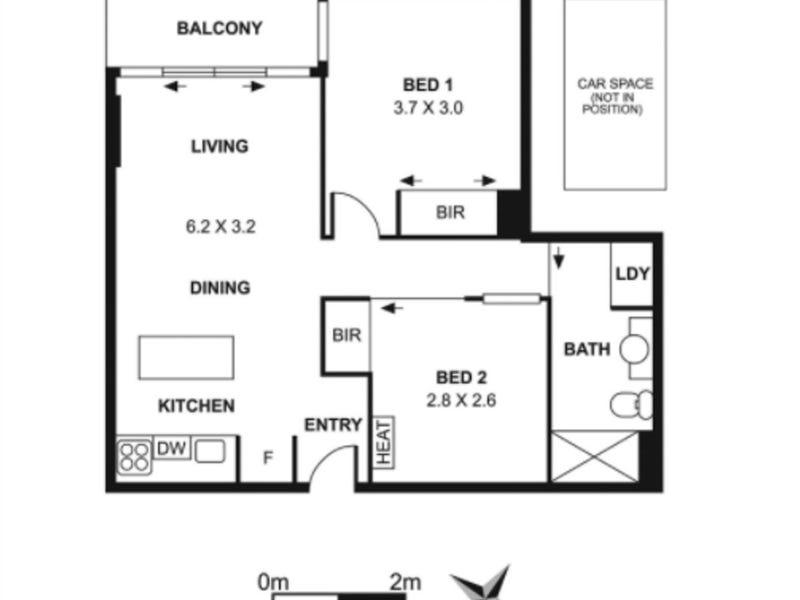 409/108 Flinders Street, Melbourne, Vic 3000 - floorplan