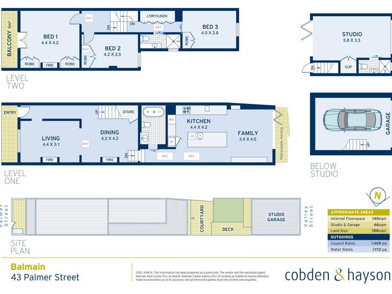 43 Palmer Street, Balmain, NSW 2041 - floorplan