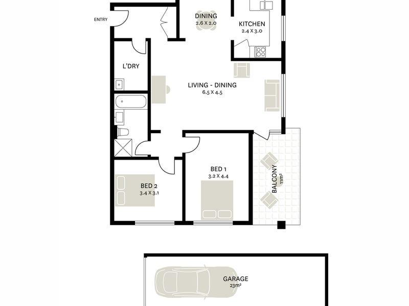 12/451 Glebe Point Road, Glebe, NSW 2037 - floorplan