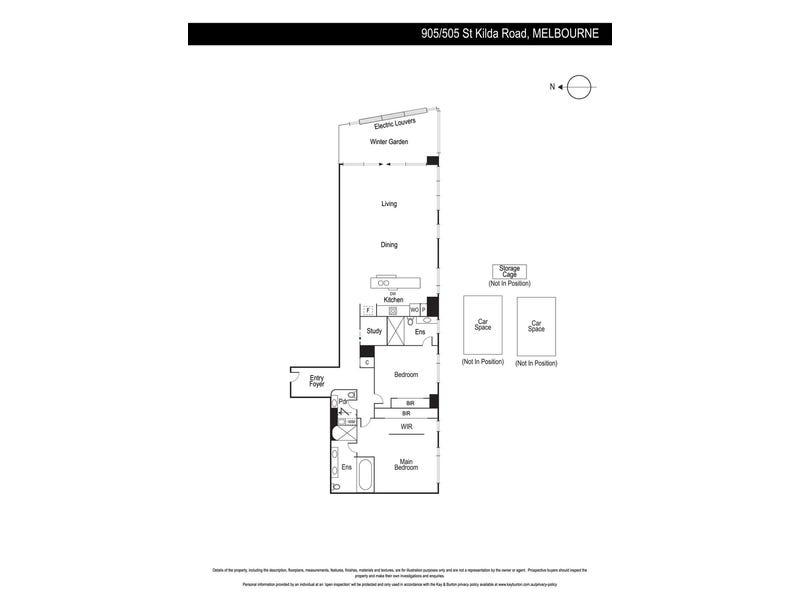 905/505 St Kilda Road, Melbourne, Vic 3000 - floorplan