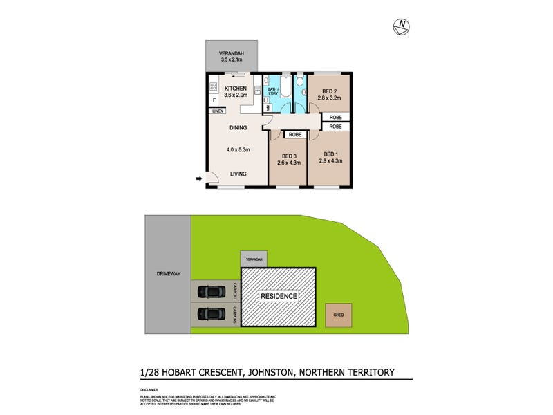 1/28 Hobart Crescent, Johnston, NT 0832 - floorplan