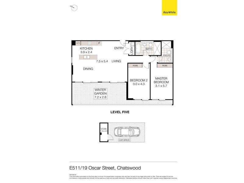 E511/19 Oscar Street, Chatswood, NSW 2067 - floorplan