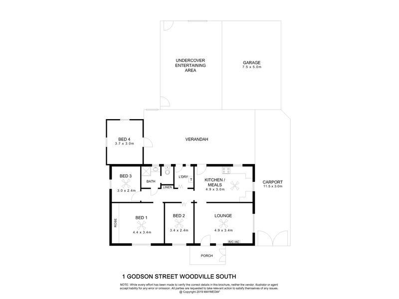 1 Godson Street, Woodville South, SA 5011 - floorplan