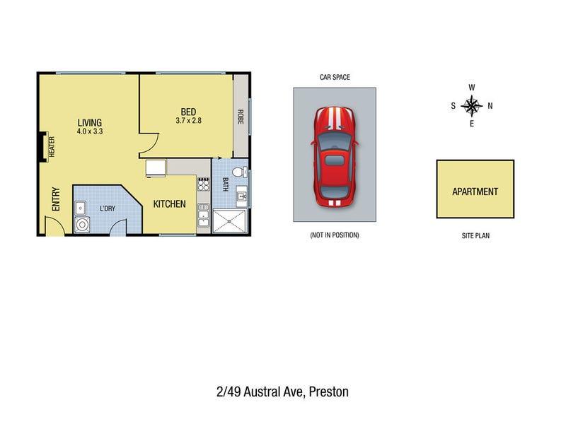 2/49 Austral Avenue, Preston, Vic 3072 - floorplan