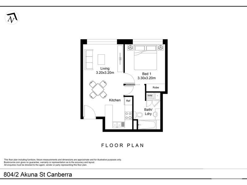 804/2 Akuna Street, City, ACT 2601 - floorplan