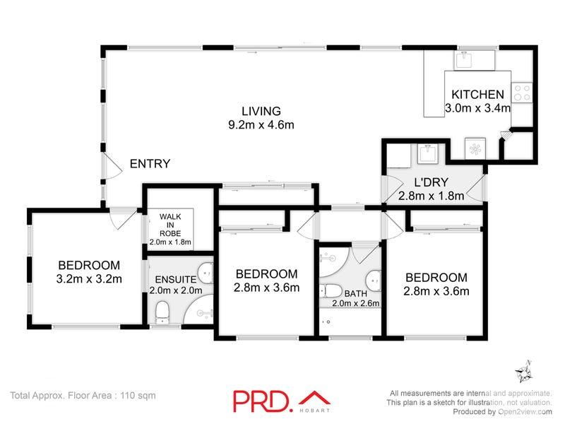 2/13 Banksfield Street, Rokeby, Tas 7019 - floorplan