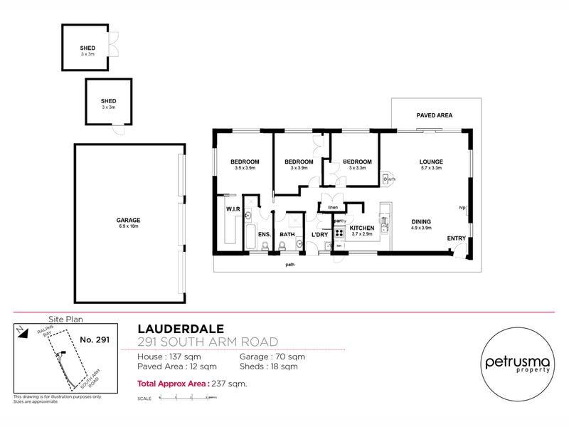 291 South Arm Road, Lauderdale, Tas 7021 - floorplan